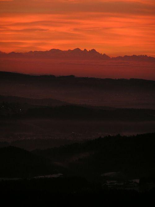 sunrise bayer forest danube valley