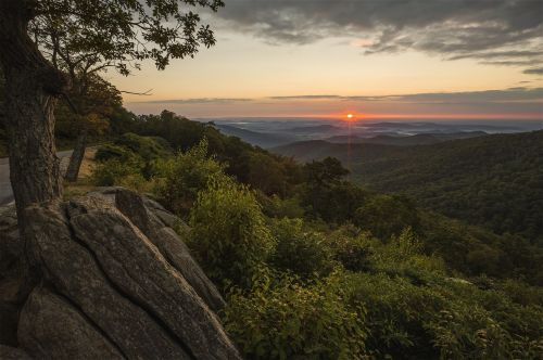 sunrise landscape scenic