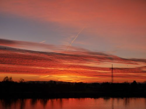 sunrise danube morgenrot