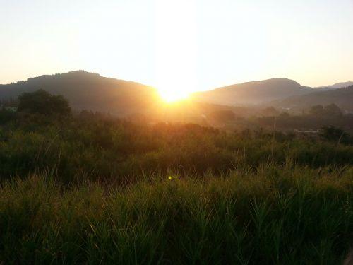 sunrise mountain morgenrot