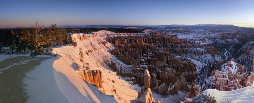 sunrise,scenic,landscape,snow,light,sun,nature,outdoors,bryce canyon national park,utah,use,trees,calm,colorful,sky,dawn,erosion,geology