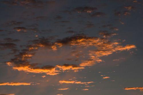 sunrise clouds blue
