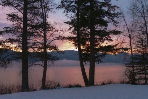 sunrise canim lake british columbia
