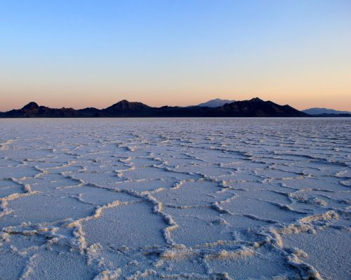 sunrise salt flats landscape