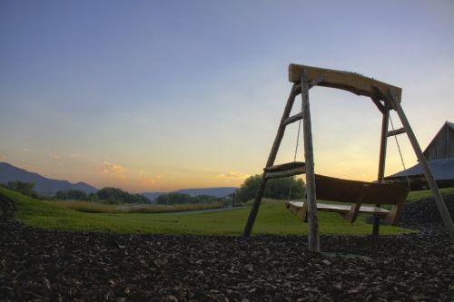 sunrise swing wood swing