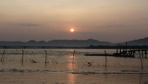 sunrise morning sea
