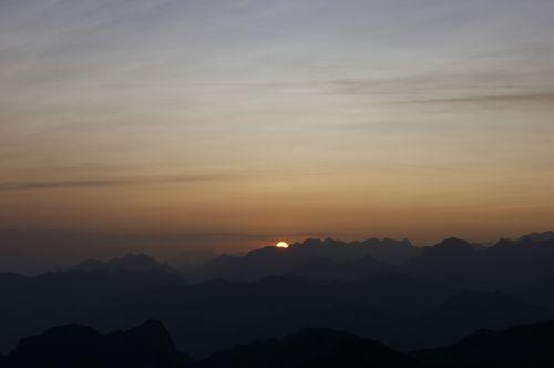 sunrise red horn morgenstimmung