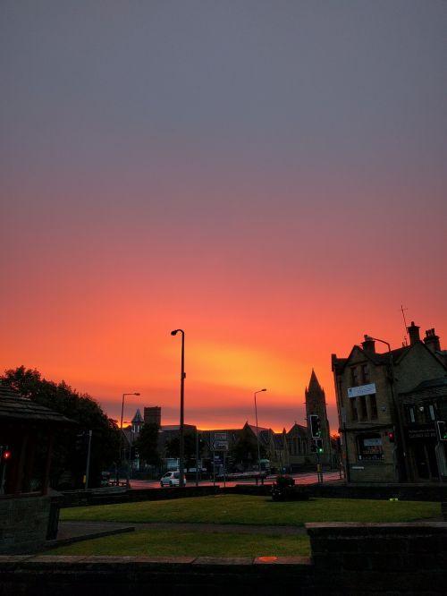 sunrise orange sky landscape
