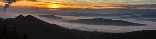 sunrise fog the swiss mittelland