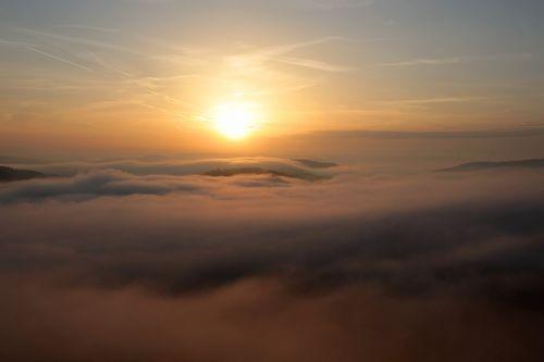 sunrise morning sun morning mist