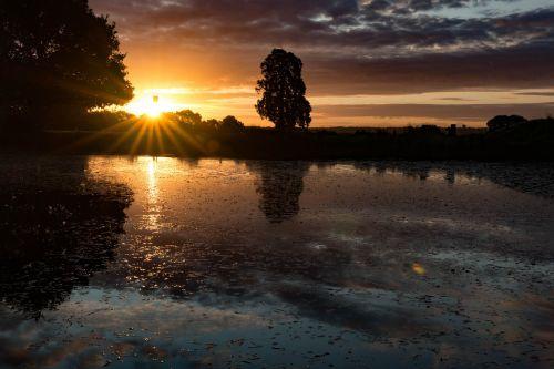 sunrise,landscape,sunset,nature,sun,sky,outdoor,sunlight,summer,light,morning,cloud,season,tree,sunny,scene,natural,park,rural