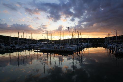 sunrise port mile morgenstimmung