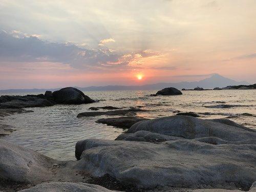 sunrise  sarti  athos