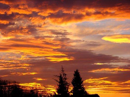 sunrise  sky  morgenrot