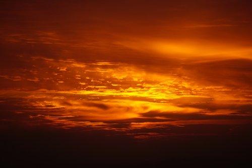 sunrise  morgenrot  sky