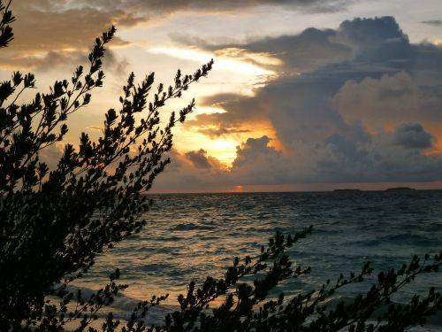sunrise silhouettes dark