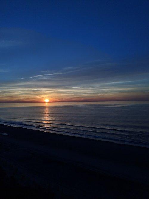 sunrise  myrtle beach  atlantic ocean