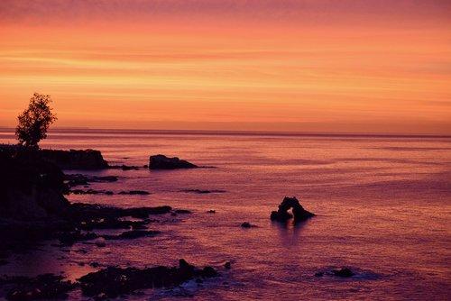 sunrise  pacific  ocean