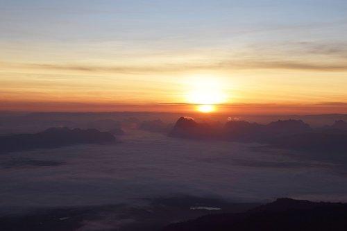 sunrise  sunset  landscape