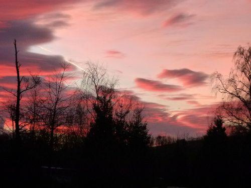 sunrise january romantic