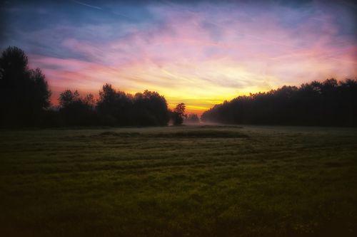 sunrise meadow landscape