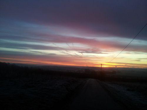 sunrise sun mood