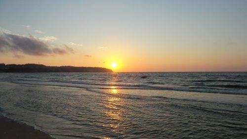 sunrise rügen beach