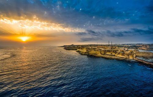 Sunrise In Malta Harbor
