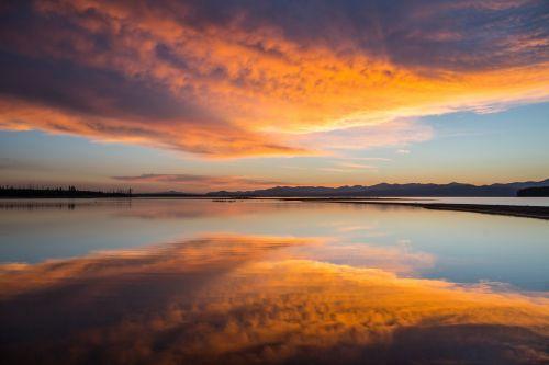 Sunrise In Yellowstone