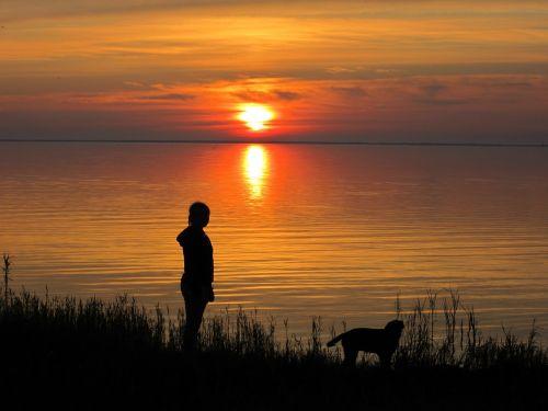 sunset late summer denmark