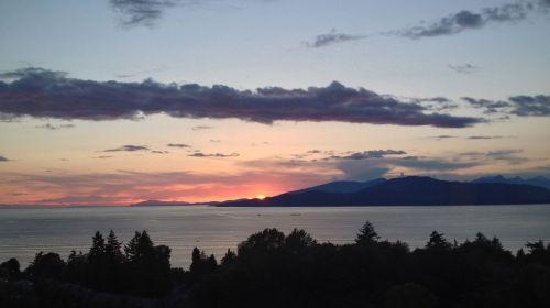 sunset may british columbia