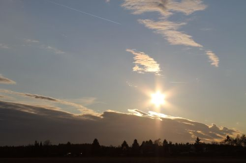 sunset sun abendstimmung