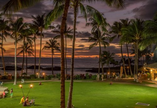 sunset hawaii colorful