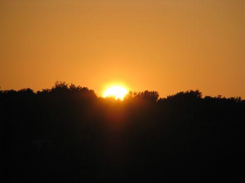 sunset orange red sky