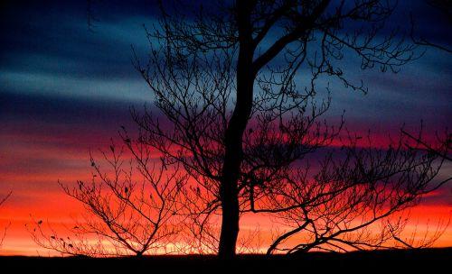 sunset evening twilight
