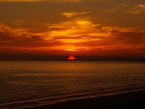 sunset algarve portugal