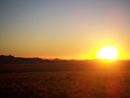 sunset desert africa
