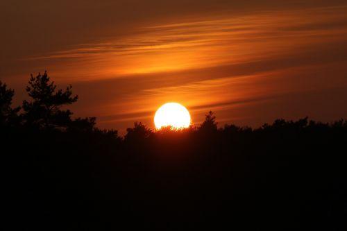 sunset abendstimmung clouds