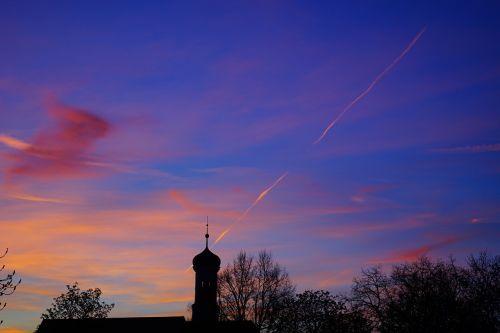 sunset evening hour sky