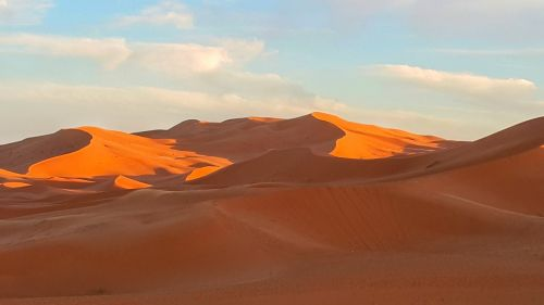 sunset sand dune desert