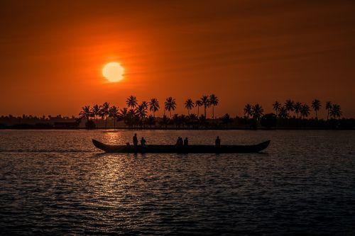 sunset kerala aleppay