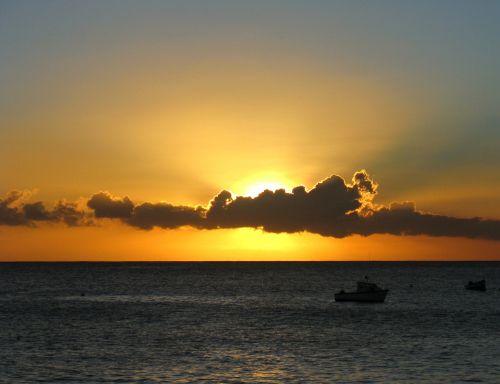 sunset clouds brilliant