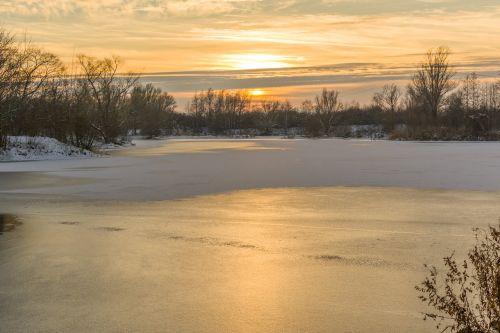 sunset fast lake