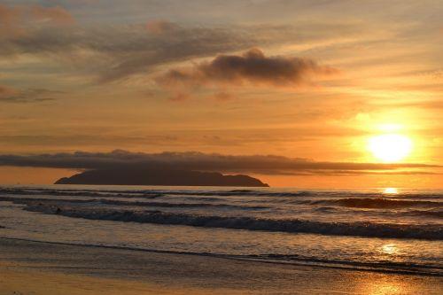 sunset kapiti coast new zealand