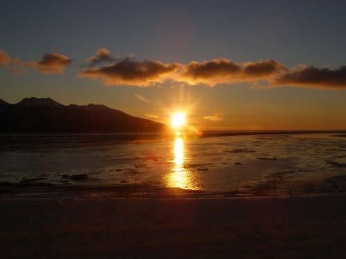 sunset anchorage alaska