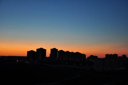 sunset twilight silhouette
