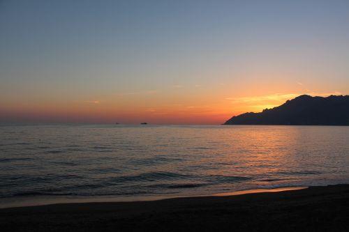 sunset amalfi coast salerno