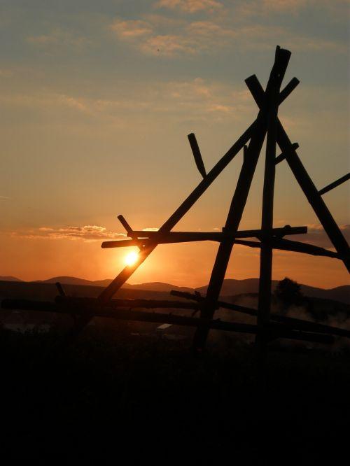 sunset hay the sharp