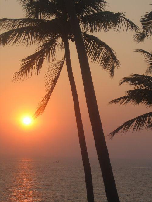 sunset india goa