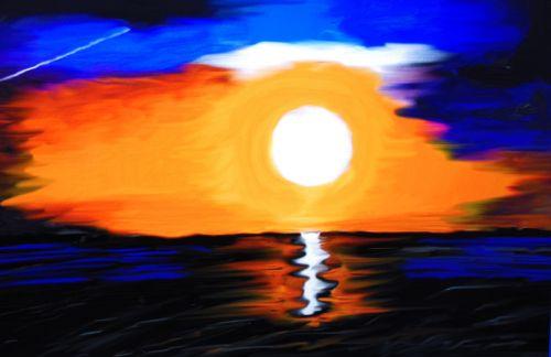 sunset sea farbenpracht